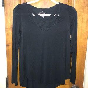 v-neck cross blouse